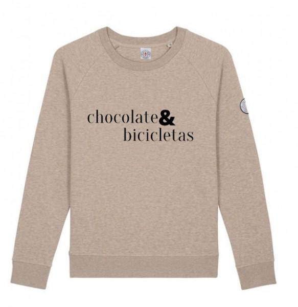 Damen Sweatshirt CHOCOALTE & BICICLETAS