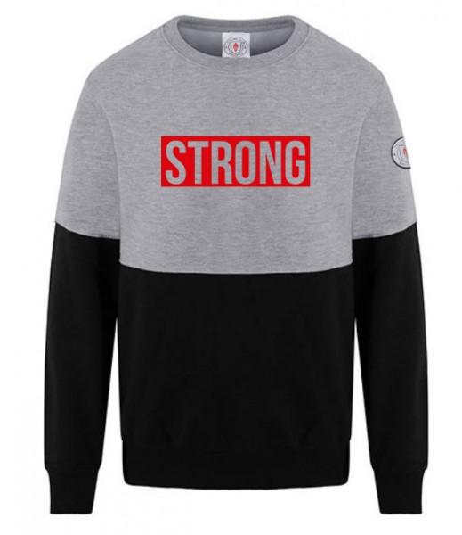 Herren Sweatshirt STRONG BUT SMART